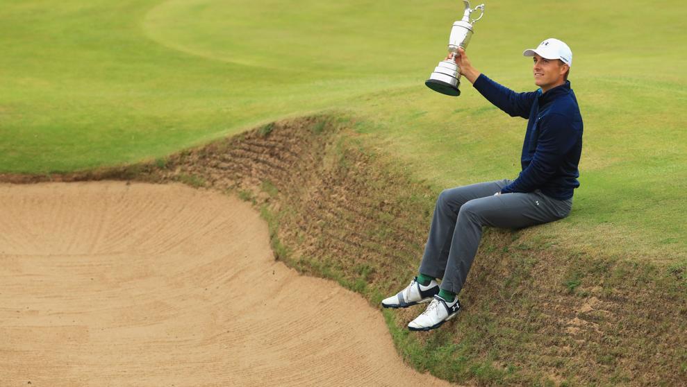 Jordan Spieth y la Claret Jug. Serra Golf Academy, donde el golf es pasión.
